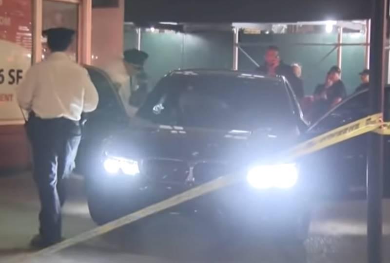 Suspects' BMW